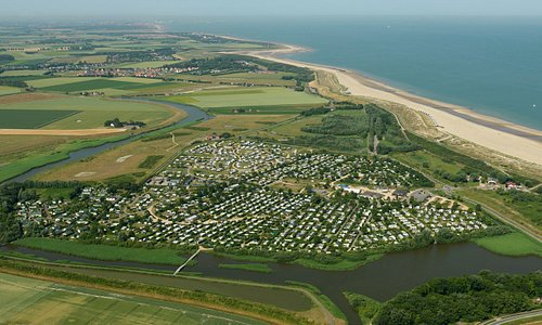 Strandcamping Groede luchtfoto