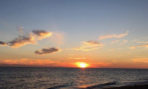 Herring cove beach sunset. One piece of sea glass piece found!