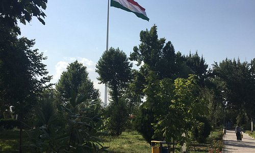 View of Flag Pole from Rudaki Park