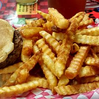 The perfect lunch for a burger and fries lover