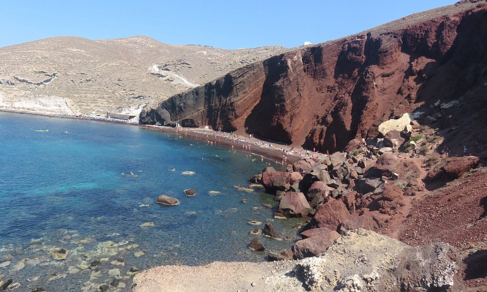 Red beach a Santorin