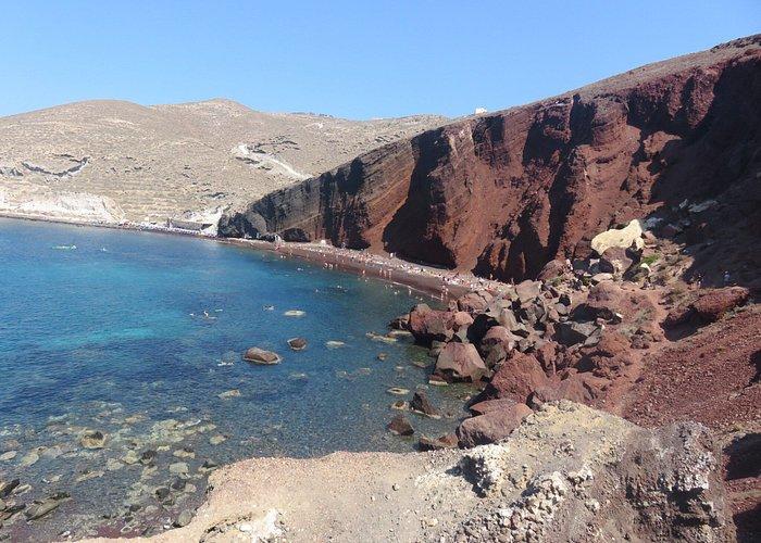 Red beach a Santorin
