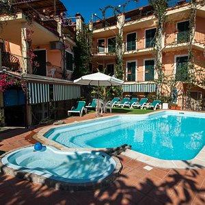 The Pool at the Domus De Janas Beach Resort
