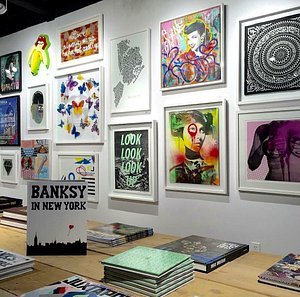 Affordable limited edition silkscreen print wall.