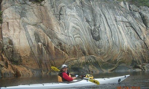 Beautiful cliffs along the Saguenay Fjord