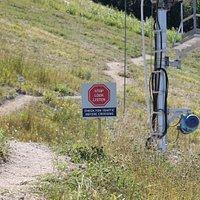 Service Road Notice