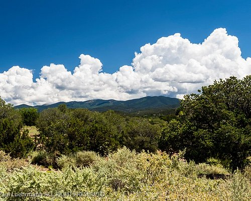 Old Fort Marcy Park - view towards the Sangre de Cristo mountains