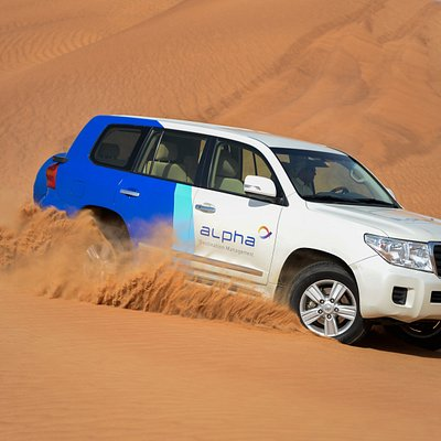 Embark on an exciting 4x4 safari over the dunes, see sunset in the desert and savour an Arabian