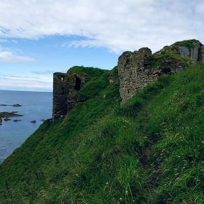 Findlater Castle, halfway there