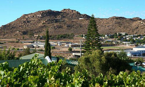 The view of Springbok from the guest rooms