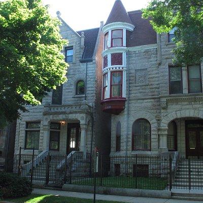 Red window adorns home of Ida B. Wells