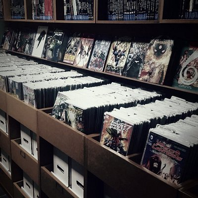 Comic and trades section