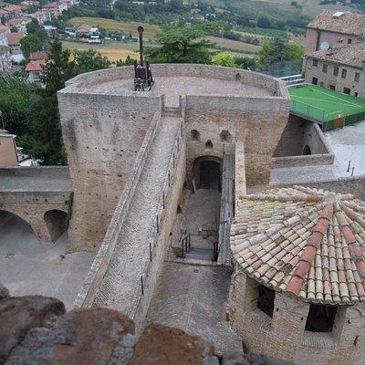 Panorama dalla sommità della Rocca