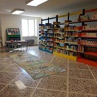 Alcune stanze della biblioteca in particolare la stanza con gli scaffali a colori dedicata per l
