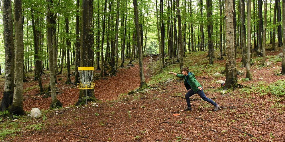 Play a round of disc golf at Platak