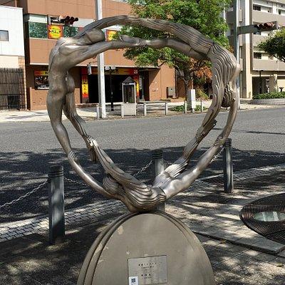 野外彫刻 循環メビウス 外観