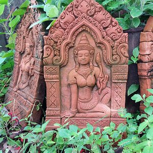 Apsara In The Palace piece at Champasak Pottery