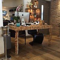 L'originale tavolo in tappi di sughero della cassa
