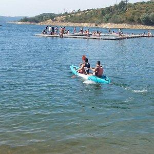 Canoagem na Aldeia do Mato - praia fluvial