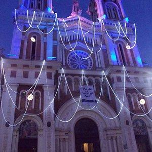 Iglesia de Nuestra Señora del rosario durante el mes de Diciembre