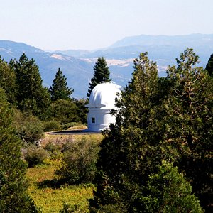 Scenic Mt Palomar. This is a satellite observatory that works with the main observatory