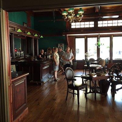 Tasting room - having fun! Taken from inside the Deco Lounge