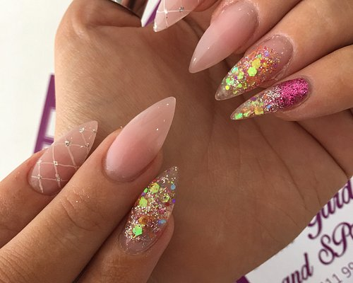 Nail extension with shellac