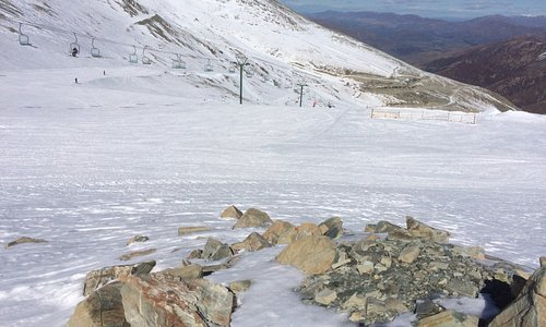 Near top of chair lift