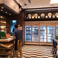 The Refrigerated Cake Display and the Bar