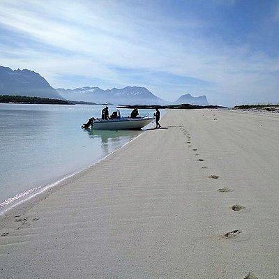 Coral beach of Færøya