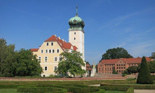 Barockschloss Delitzsch mit Garten