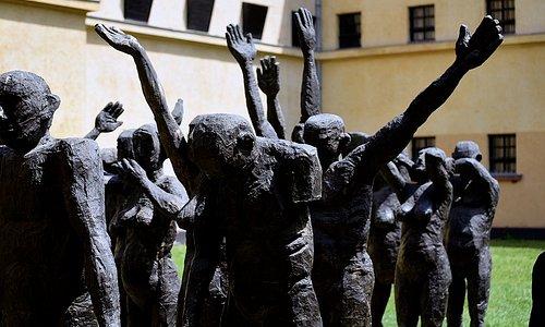 Sculpture in the museum garden
