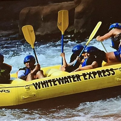 Shah Family fun river rafting in Columbus, GA with Whitewater Express