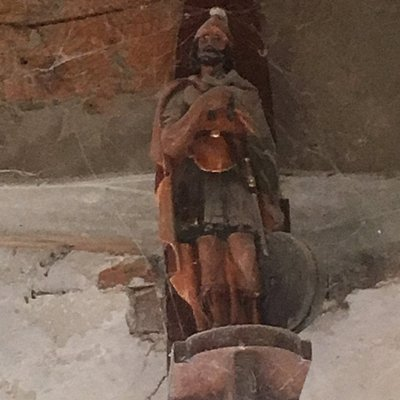 Beeldje van de beschermheilige van de molenaars St. Victor (van Marseille)