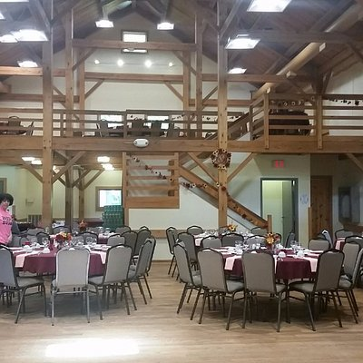 The beautiful barn which held the reception