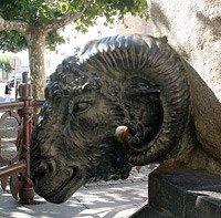 Base de la escultura.