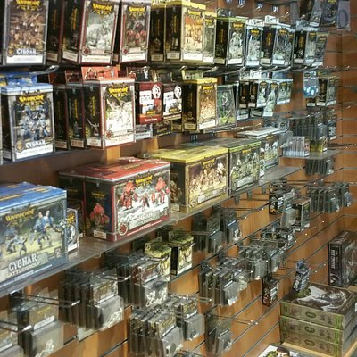 Pictures from the miniature display cabinet and inside the store.