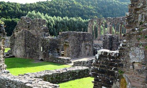 Tintern Abbey is set in lovely countryside (29/Jul/16).