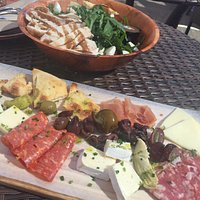 Caprese Salad, Meat & Cheese Board