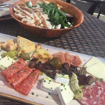 Caprese Salad, Meat & Cheese Board