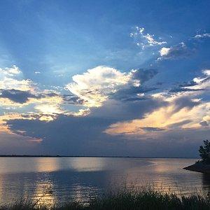 Lake Hefner at sunset