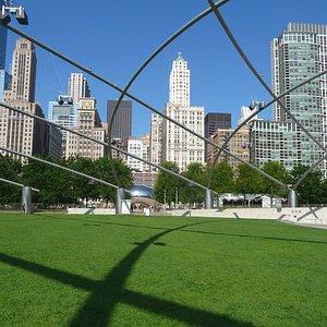 Chicago Skyline from Millenium Park/Pritzker Pavilion (Free Concerts)