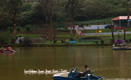 the lake offers pleasant environment along with boating facilities and children park.