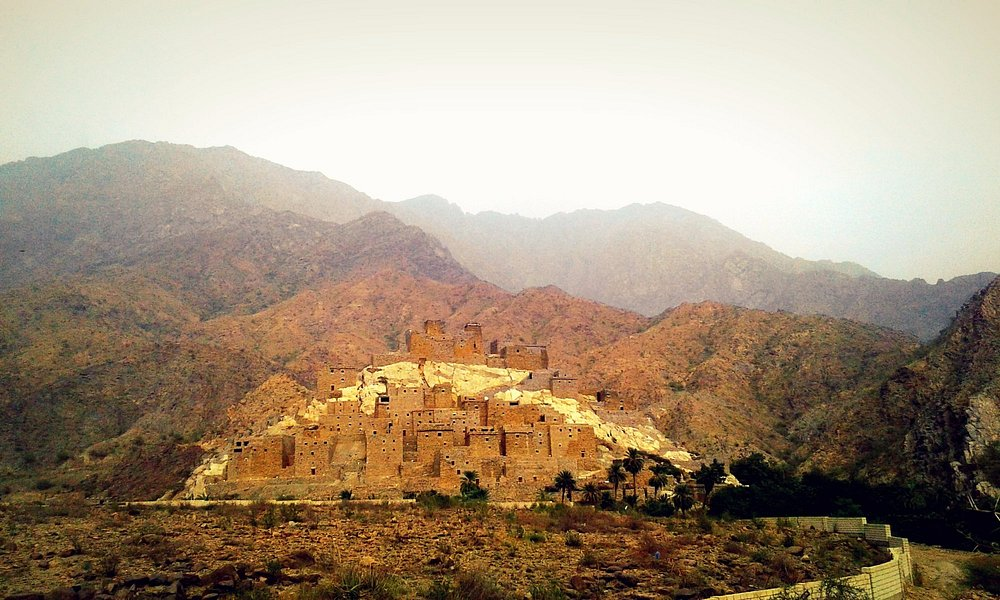 Thee Ain Village - View from the access road.