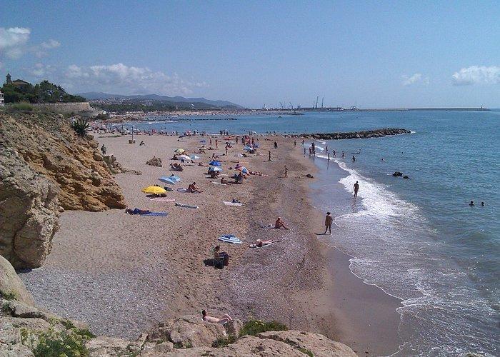 Vista de la playa desde su extremo sur