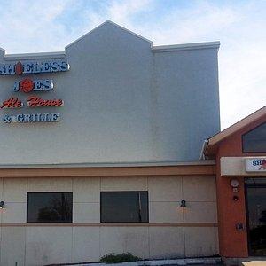 Front & entrance to Shoeless Joe's Ale House