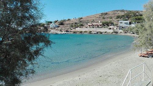 bella spiaggia nella zona sud di Syros