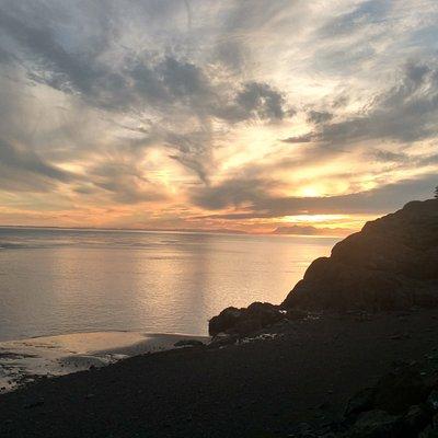 Sunset at Beluga Point