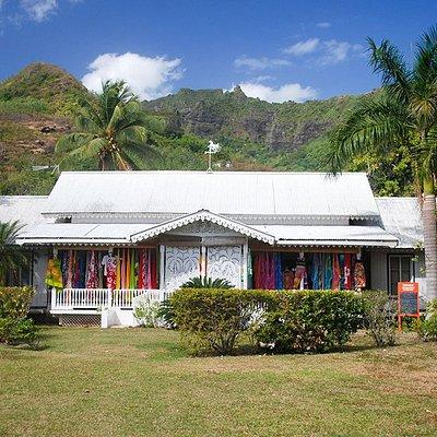 Une jolie boutique dans un faré de style colonial