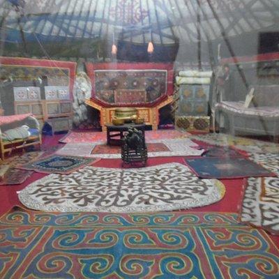 Ulgii Museum - Kazakh Ger display